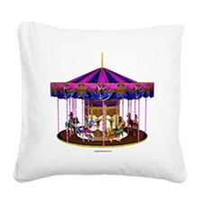 carousel Square Canvas Pillow