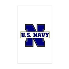 U S Navy Rectangle Decal