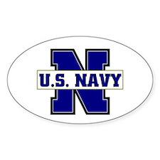 U S Navy Oval Decal