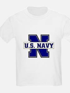U S Navy Kids T-Shirt