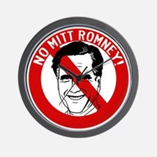 no-mitt-romney-face_tr Wall Clock