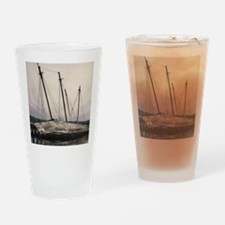 ghost ship Drinking Glass