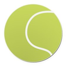 Tennis Ball Icon Round Car Magnet