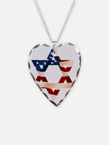 PatrioticStarOfDavid Necklace