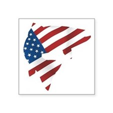 "flag trout 1 dark Square Sticker 3"" x 3"""