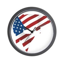 flag trout 1 dark Wall Clock