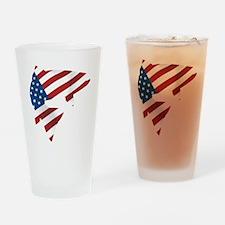 flag trout 1 dark Drinking Glass