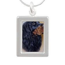 Gordon Jewel Silver Portrait Necklace