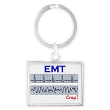 EMT funny QRS Crap Landscape Keychain