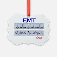 EMT funny QRS Crap Ornament