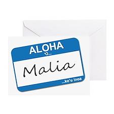 malia Greeting Card