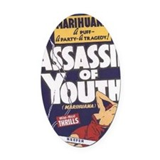 Assassin_of_Youth BIG PNG Oval Car Magnet