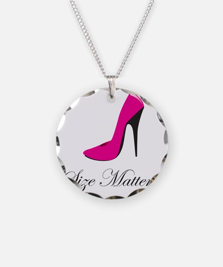 size-matters Necklace Circle Charm