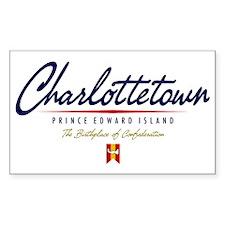 Charlottetown Script W Decal