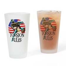 Ernie Torsion Rules Drinking Glass