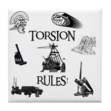 Torsion Rules t-shirt 24 Tile Coaster