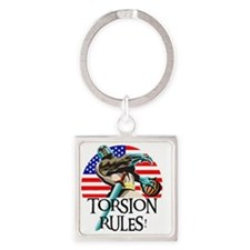 Ernie Torsion Rules small Square Keychain