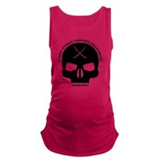 samurai-fighter-squadron-BLACK Maternity Tank Top