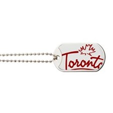 Toronto Leaf Script W Dog Tags