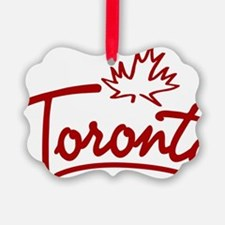 Toronto Leaf Script W Ornament