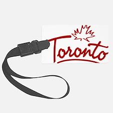 Toronto Leaf Script W Luggage Tag