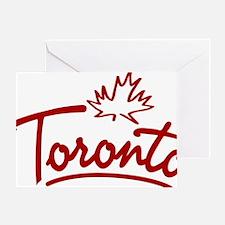 Toronto Leaf Script W Greeting Card