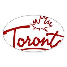 Toronto Leaf Script W Bumper Stickers