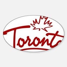 Toronto Leaf Script W Decal