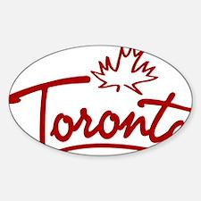 Toronto Leaf Script W Sticker (Oval)