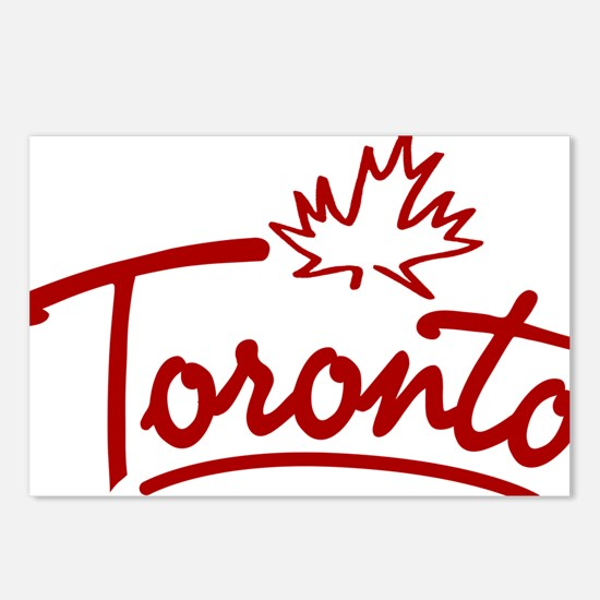 Toronto Leaf Script W Postcards (Package of 8)