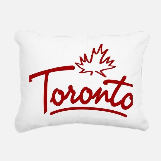 Toronto Leaf Script W Rectangular Canvas Pillow