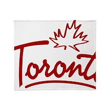 Toronto Leaf Script W Throw Blanket