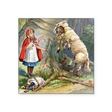 "red riding hood Square Sticker 3"" x 3"""