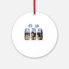 Budapest Parlament Round Ornament
