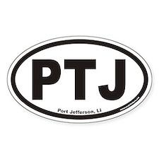 Port Jefferson PTJ Euro Oval Bumper Stickers