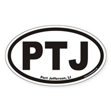 Port Jefferson PTJ Euro Oval Decal