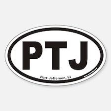 Port Jefferson PTJ Euro Oval Decal