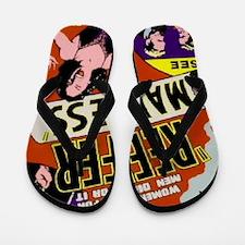Reefer Madness 1936 BIG PNG Flip Flops