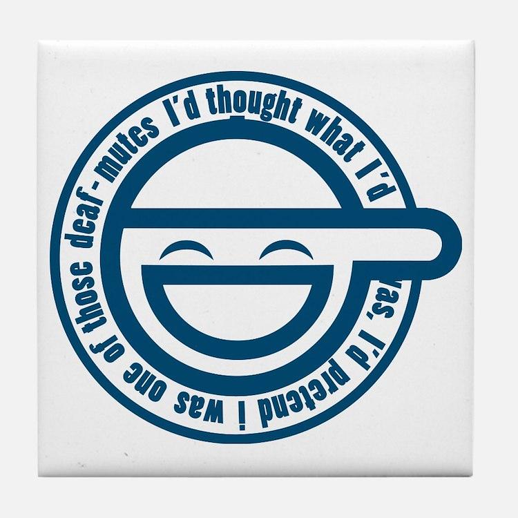 laughing-man-1 Tile Coaster