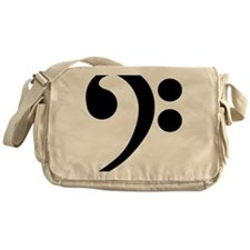 Bass Clef Music Symbol Messenger Bag
