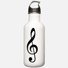 Treble Clef Music Symb Water Bottle