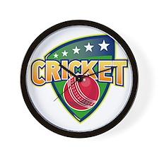 cricket sports ball shield Wall Clock