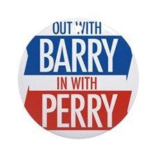 Out With Barry Round Ornament