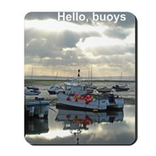 Buoys poster Mousepad