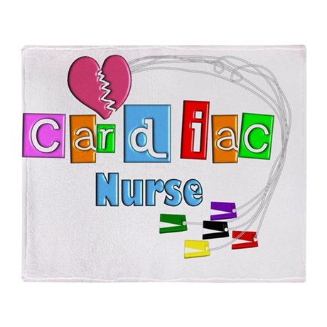 Cardiac Nurse EKG cables Throw Blanket