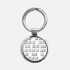 funnykeyboard Round Keychain