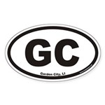 Garden City GC Euro Oval Sticker