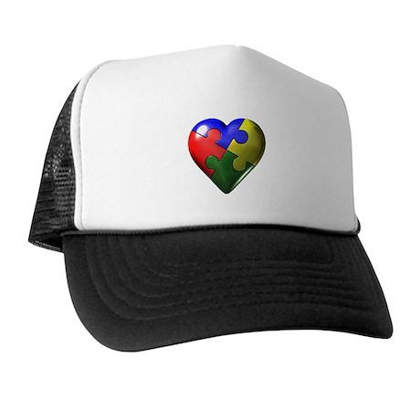 Puzzle Heart Trucker Hat