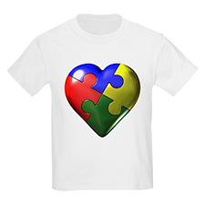Puzzle Heart Kids T-Shirt