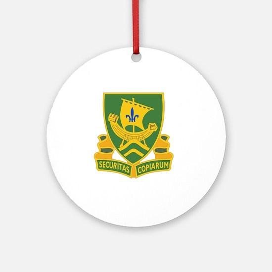 709th Military Police Battalion DUI Round Ornament